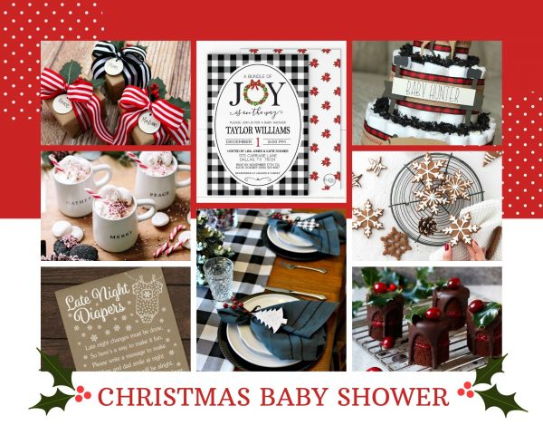 Christmas baby shower mood board