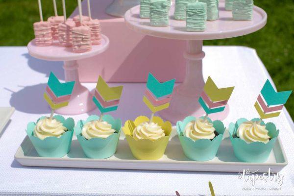 springtime-boho-baby-shower-cupcakes