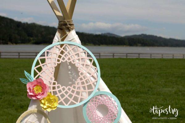 springtime-boho-baby-shower-teepee