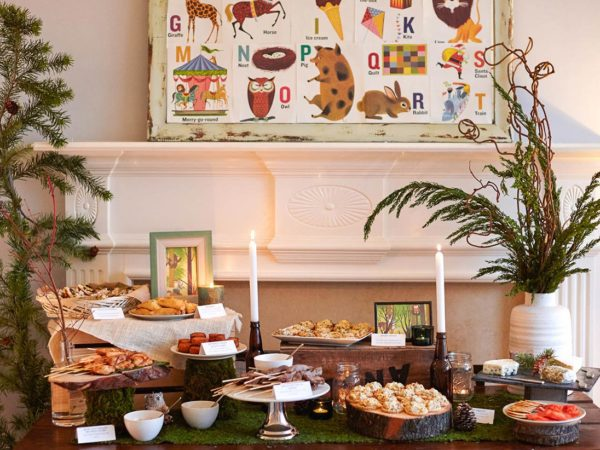 whimsical-woodland-coed-baby-shower-food-buffet