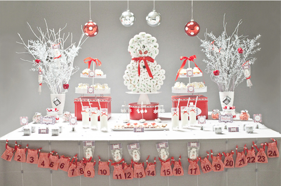 Christmas themed baby shower ideas for winter
