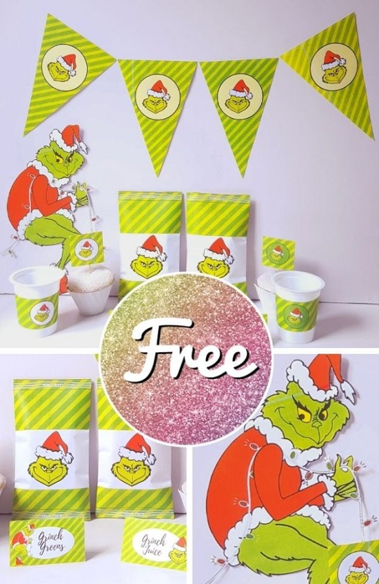 free grinch party printable for christmas