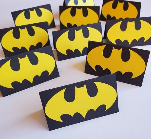 Batman Place Cards