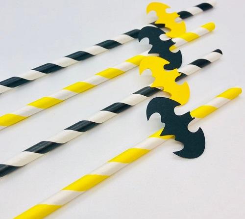 Fun Batman Straws