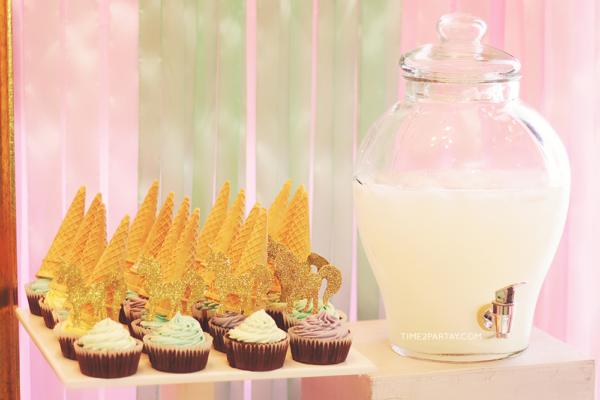 glamorous-unicorn-baby-shower-beverages