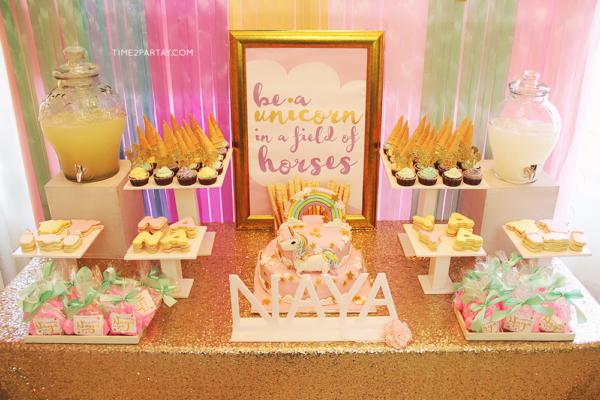 glamorous-unicorn-baby-shower-treat-table