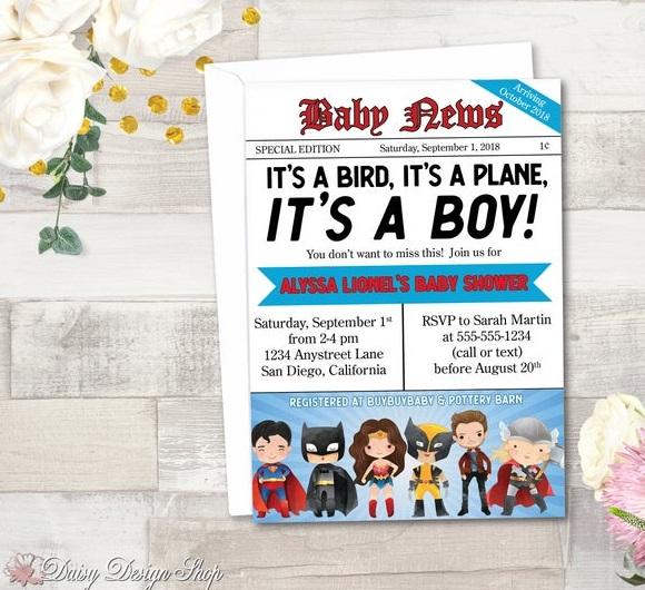 newspaper-front-page-batman-invitation