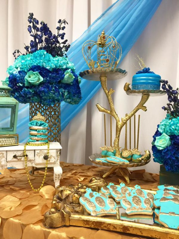 royal-moroccan-prince-baby-shower-flowers