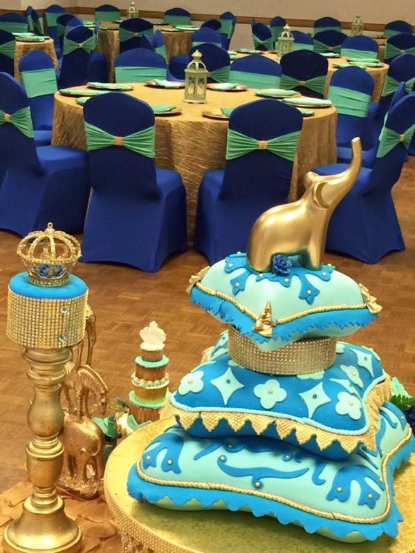 royal-moroccan-prince-baby-shower-guest-tables