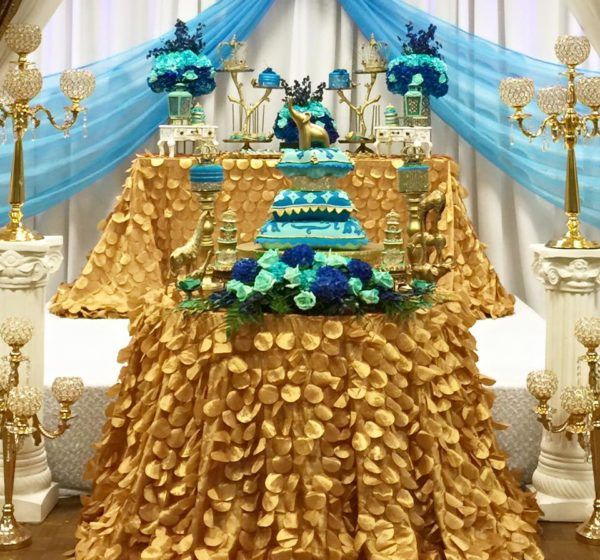 royal-moroccan-prince-baby-shower-snack-table