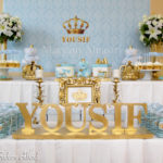 Sky Blue and Gold Royal Baby Shower