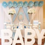 Blue and White Elephant Themed Baby Shower