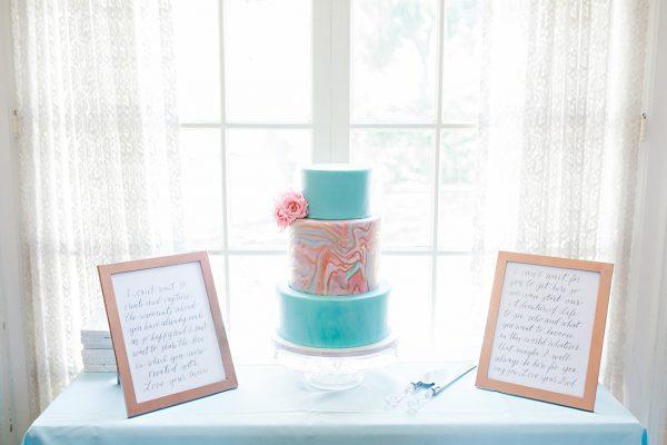 Pantone Baby Shower Cake