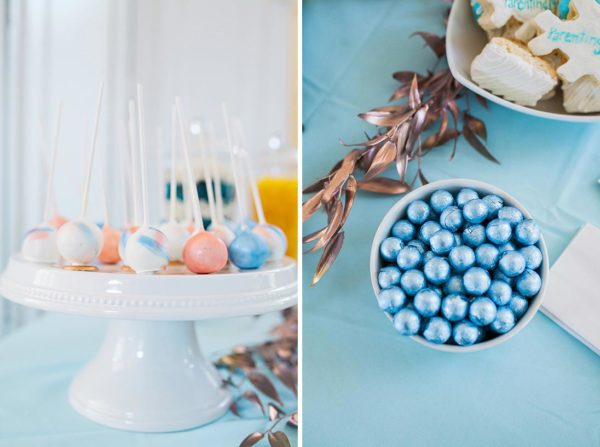 Pantone themed Cakepops and shimmering blue balls