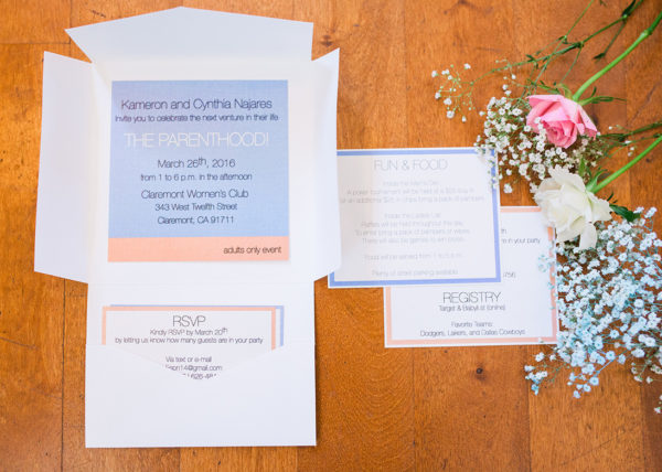 simplicity and modern pantone invitation