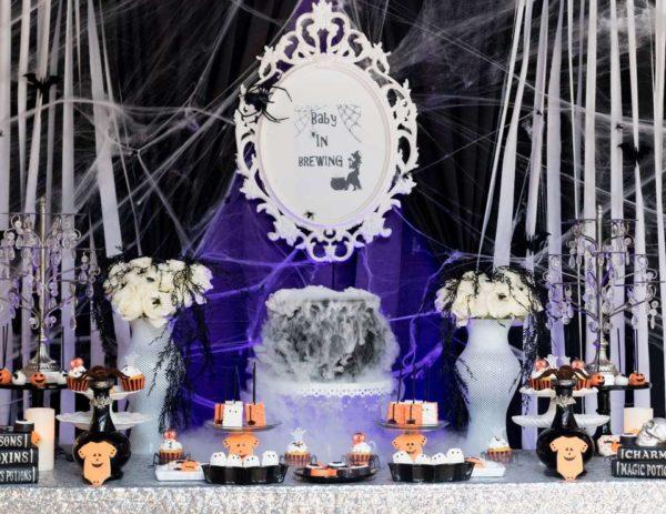 spooktacular-baby-shower-dessert-table