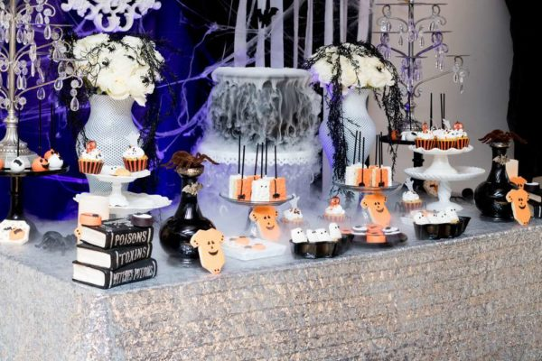 spooktacular-baby-shower-snack-table