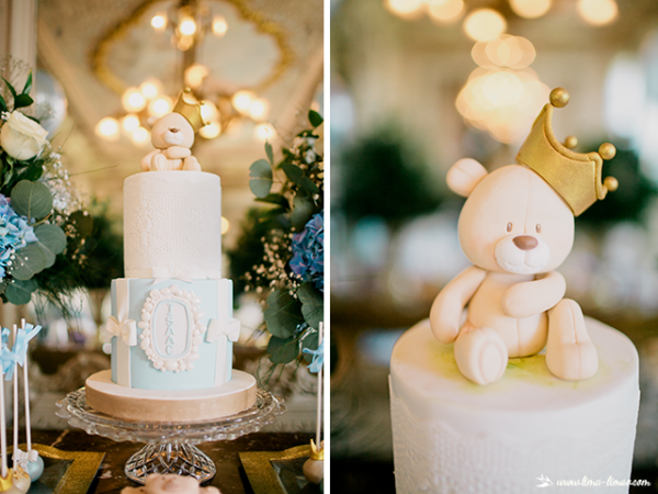 golden-royal-prince-baby-shower-cake