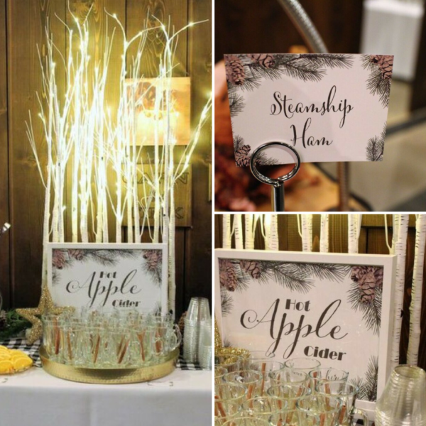 pinecone-baby-shower-woodland-birch-three-apple-cider-bar