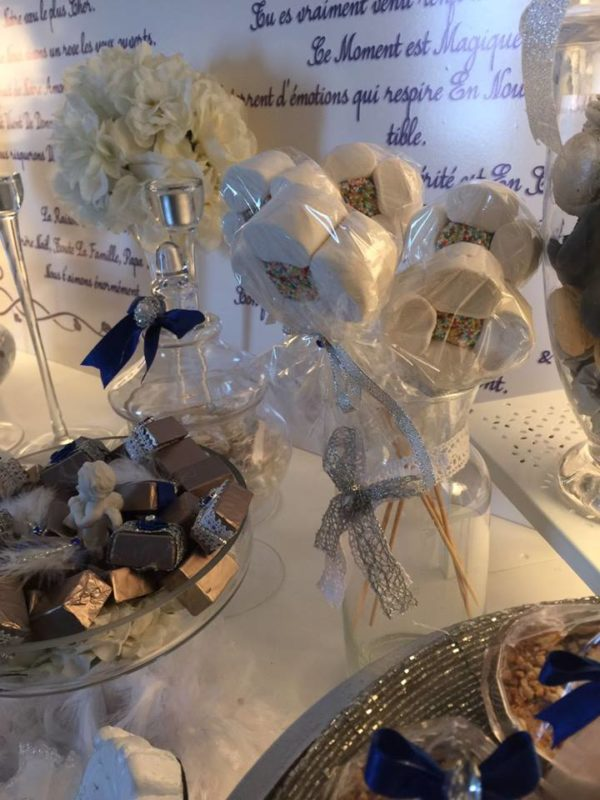 angelic-royal-blue-newborn-baby-shower-marshmallow-flowers