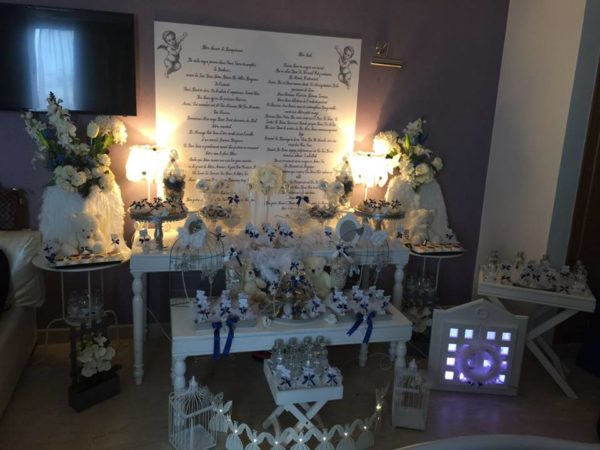 angelic-royal-blue-newborn-baby-shower-snack-table
