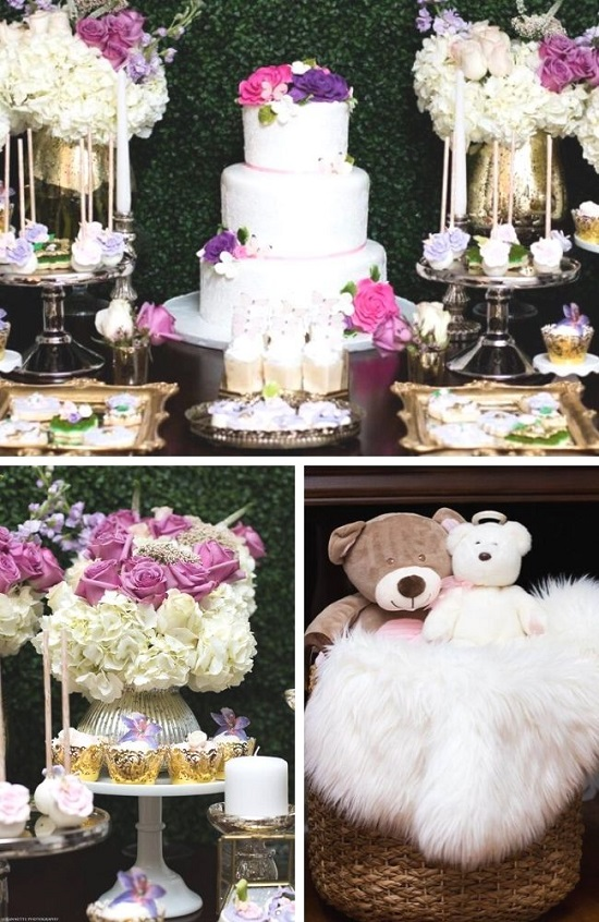 Chic Floral Garden Baby Shower tablescape