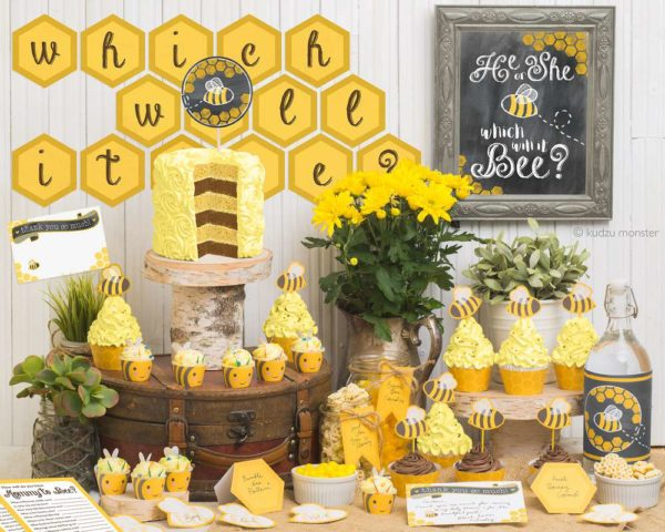 bumblebee-gender-reveal-baby-shower