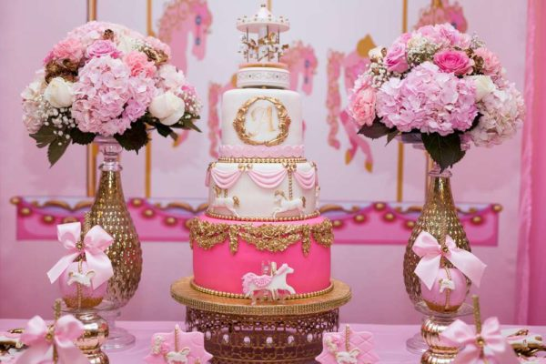carousel-in-pink-baby-shower-cake-flowers