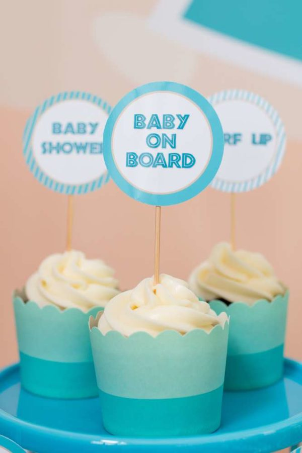surfing-baby-on-board-shower-cupcake-toppers