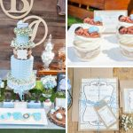 Whimsical Bottles and Burlap Baby Shower