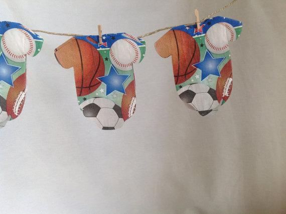 sports baby shower onesie napkins