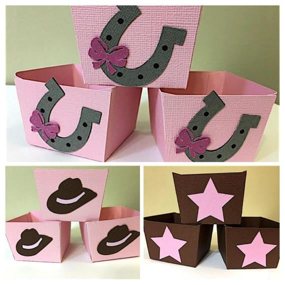 cowgirl baby shower candy cups
