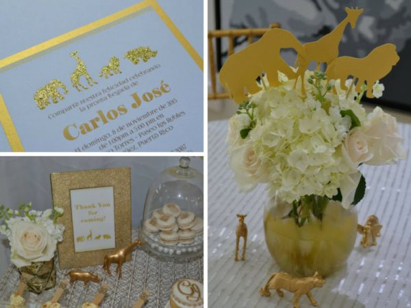 Golden Chic Safari Baby Shower