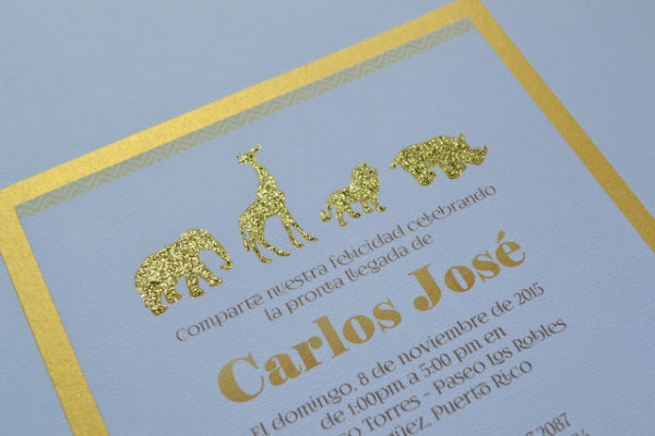 golden-chic-safari-baby-shower-invitations