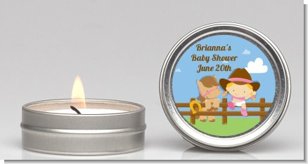 baby shower candle tin party favors