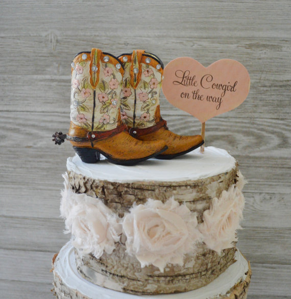 cowgirl cake topper