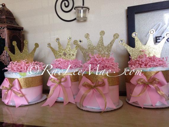 princess diaper cake centerpieces