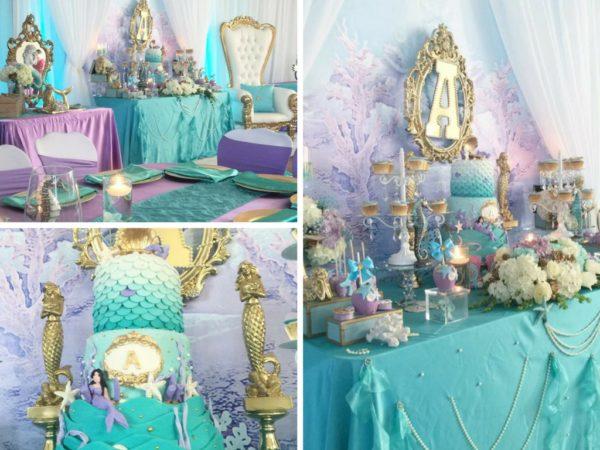 beautiful-golden-mermaid-baby-shower-1