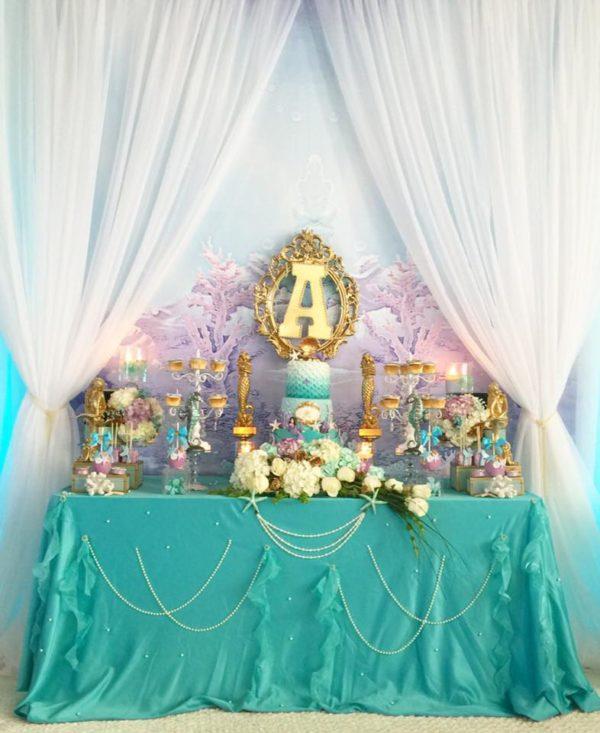 beautiful-golden-mermaid-shower-food-table