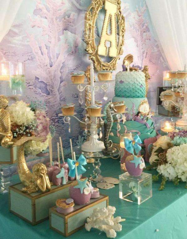 beautiful-golden-mermaid-shower-snacks