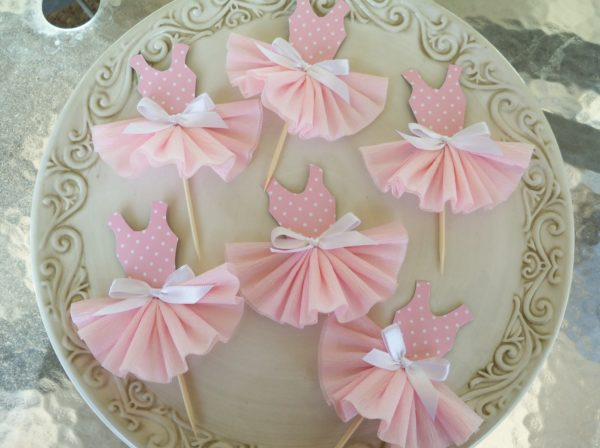 princess-baby-shower-cupcake-toppers-ballet-pink-bow
