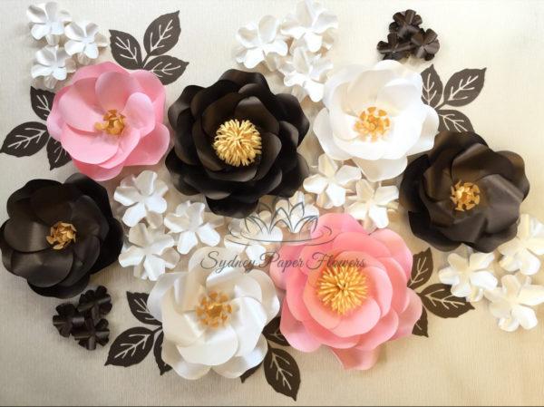 princess-baby-shower-paper-flower-backdrop-pink-black-shabby-secret-garden