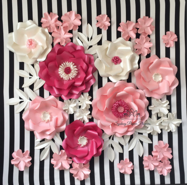 princess-baby-shower-paper-flower-backdrop-pink-silver-shabby-kate-spade