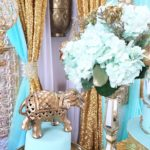 Gold and Teal Regal Elephant Baby Shower