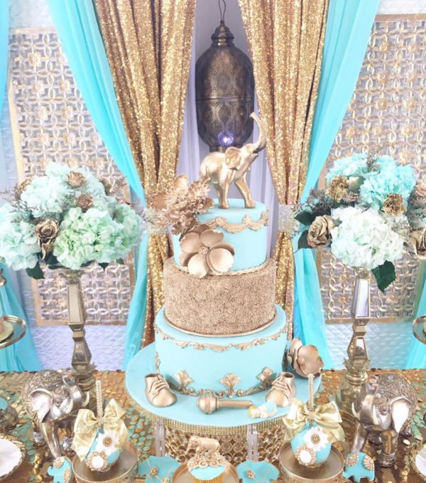 regal-elephant-shower-dessert-table