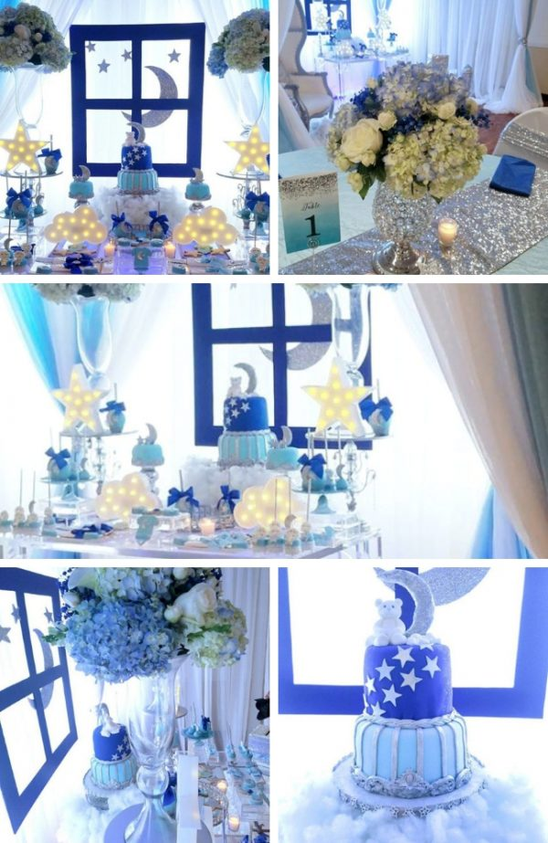 Twinkle Twinkle Little Stars Shower tablescape