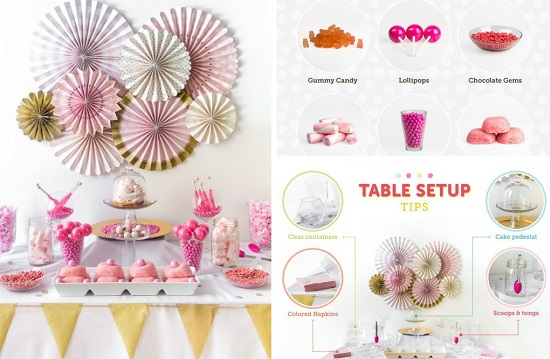 DIY Candy Buffet - Table Set Up Tips