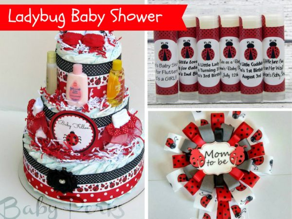 Ladybug Baby Shower Decorations and Party Favors