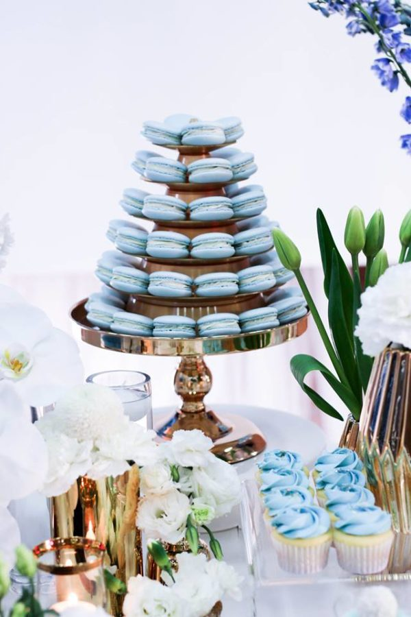 luscious-blue-and-gold-shower-pastel-macarons
