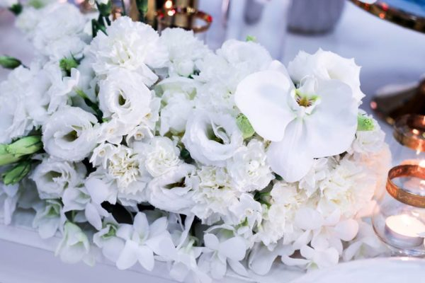 luscious-blue-and-gold-shower-white-flowers